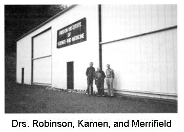 Drs. Robinson, Kamen, and Merrifield